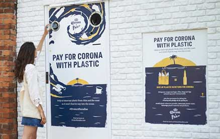 Corona Lets Beer Drinkers Pay with Plastic Waste for World Oceans Day