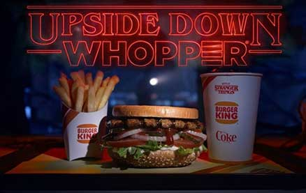 """Burger King is Literally Selling """"Upside Down Whoppers"""" in Honor of Stranger Things"""