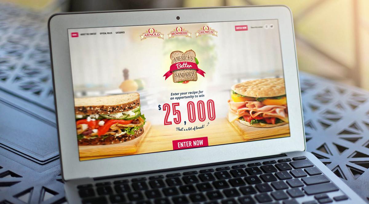 Arnold Better Sandwich Website
