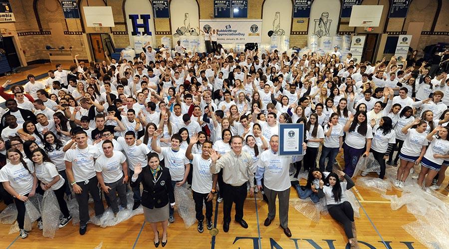 Bubble Wrap Appreciation Day Guinness World Record Event