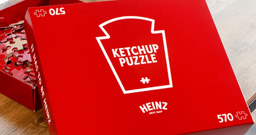 Heinz Ketchup's 570-Piece, All-Red Ketchup Puzzle Spells Torture For Those Under Quarantine