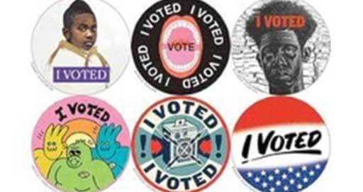 New York Magazine Teamed Up with 48 Artists to Put a New Spin on the 'I Voted' Sticker