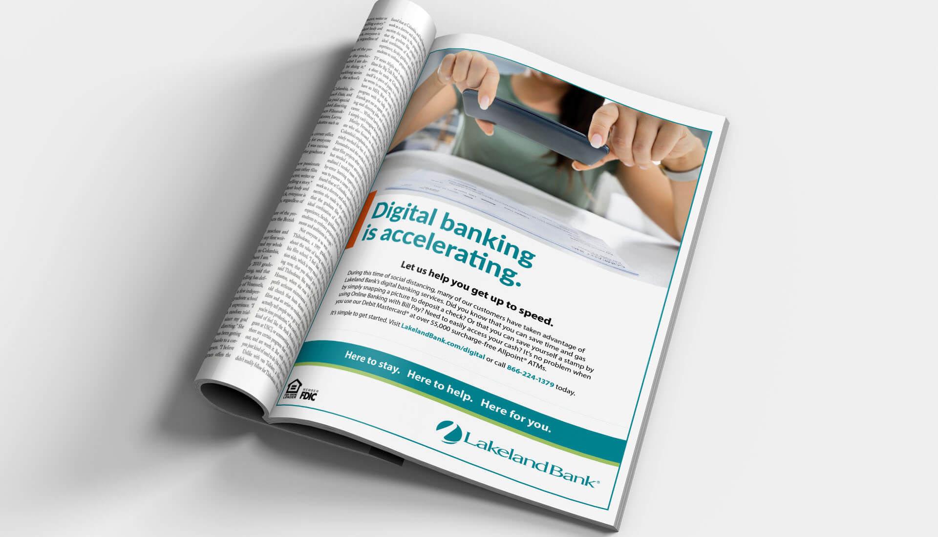 Lakeland Digital Banking Magazine Ad