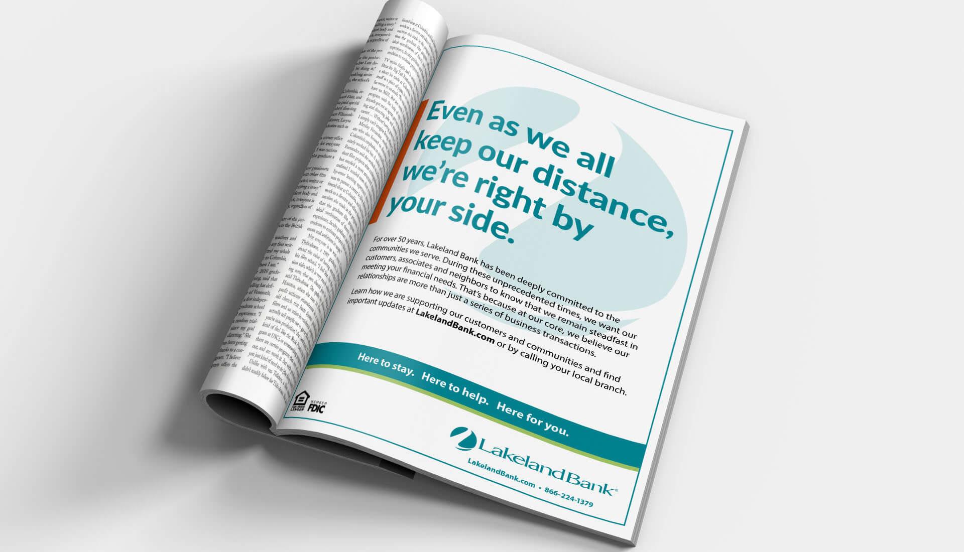 Lakeland Bank Distance Magazine Ad