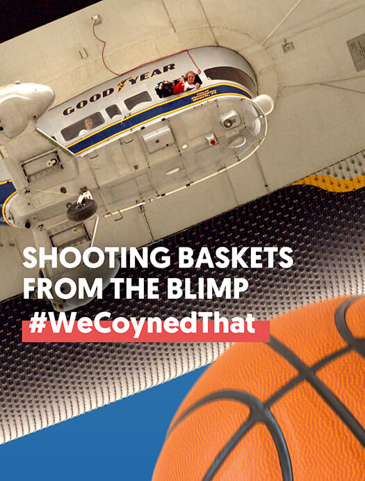 Shooting Baskets from the Blimp