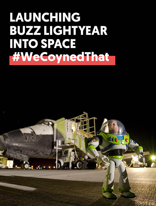 Launching <br />Buzz Lightyear Into Space
