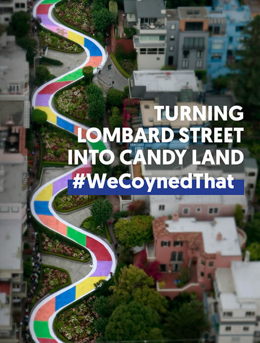 Turning <br />Lombard Street into Candy Land