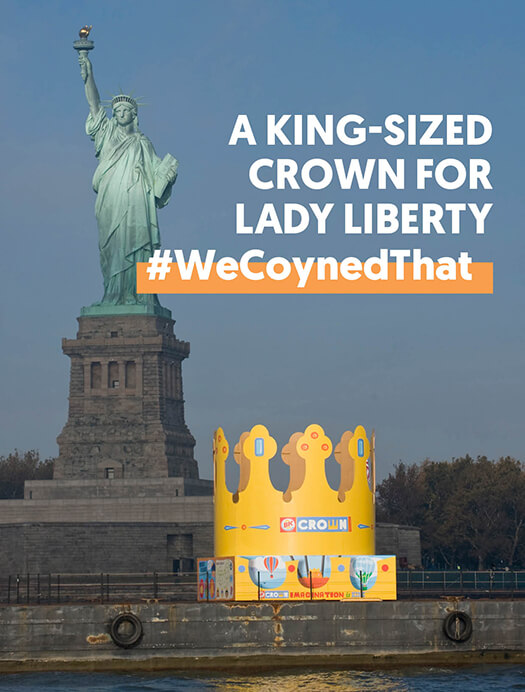 A King-sized<br /> crown for <br />lady liberty