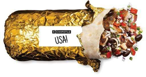 Chipotle Burritos Will Now Be Wrapped in Gold Foil for The Olympics